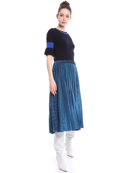 Velvet pleated skirt Intrend