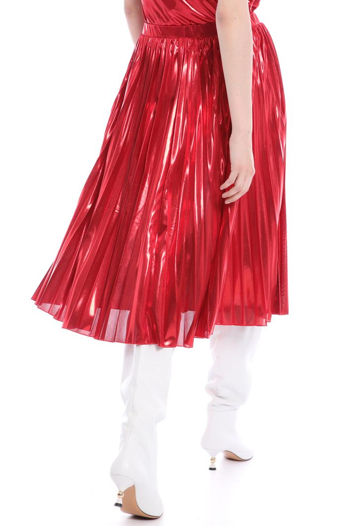 Metallic pleated midi-skirt  Intrend