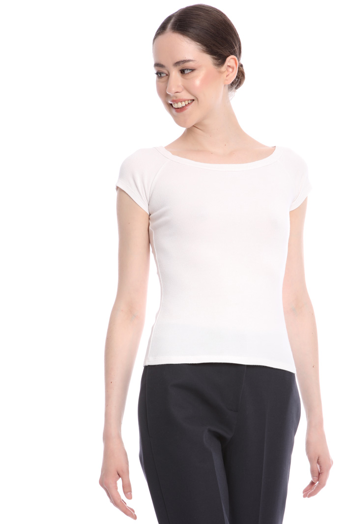 Boat neck T-shirt  Intrend