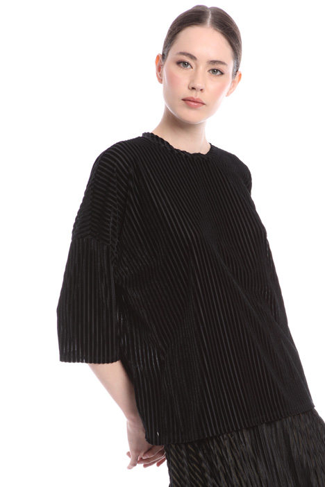 Oversized velvet T-shirt Intrend