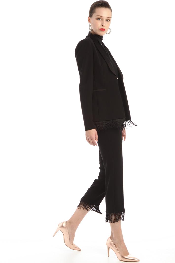 Tuxedo-style fringed blazer Intrend