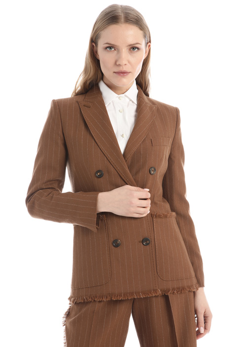 Wool basketweave blazer Intrend