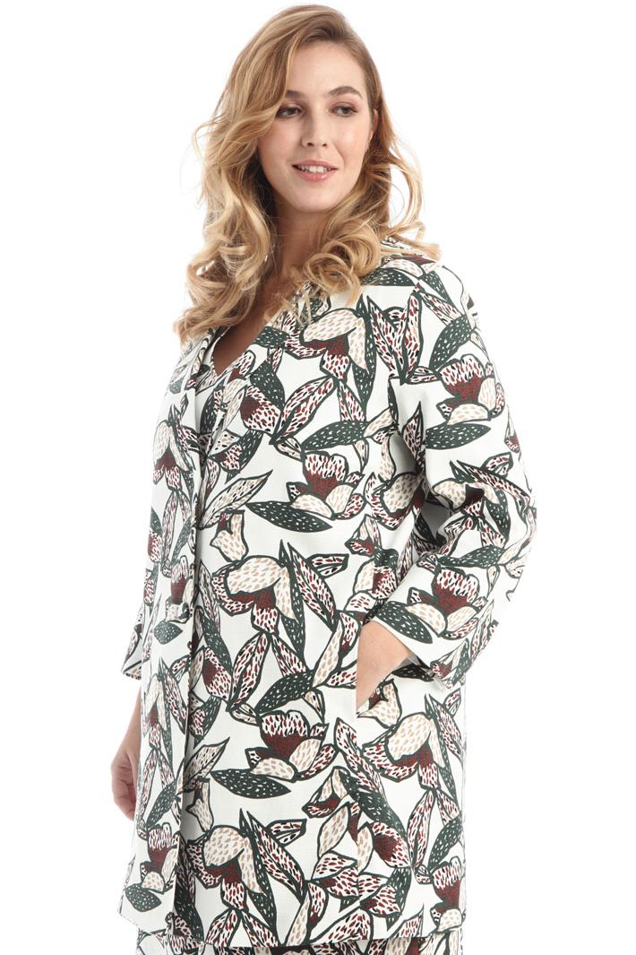 Printed woven overcoat Intrend