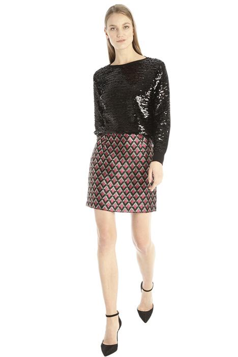 Jacquard mini-skirt Intrend
