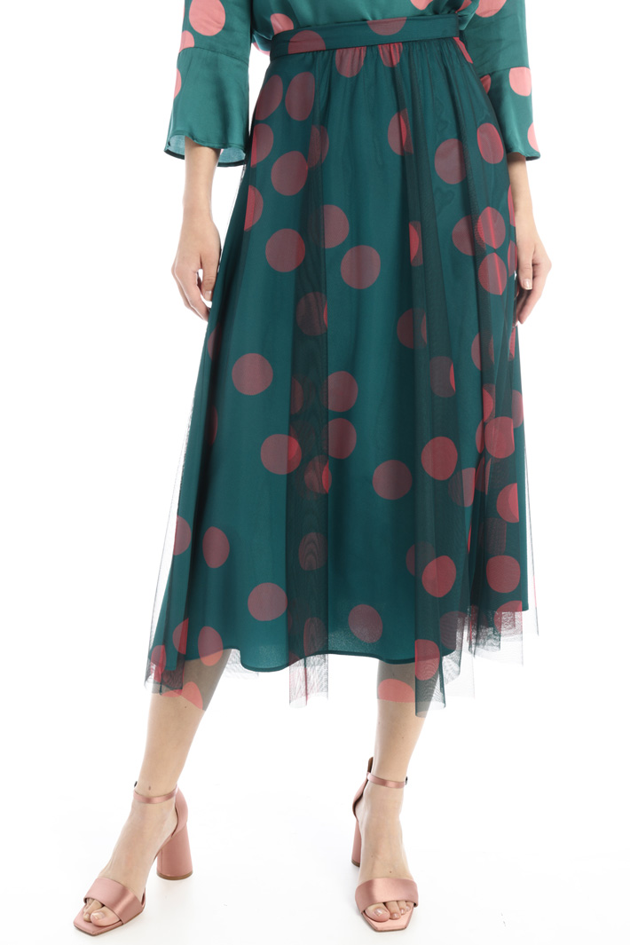 Printed tulle skirt Intrend