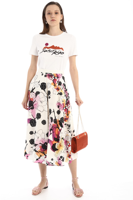A-line cotton canvas skirt Intrend