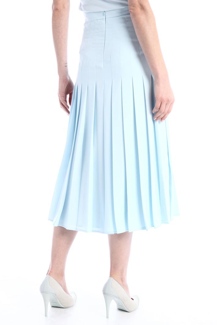 Pleated crepe skirt Intrend