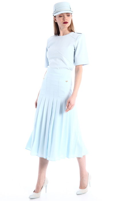 Pleated crepe skirt Intrend