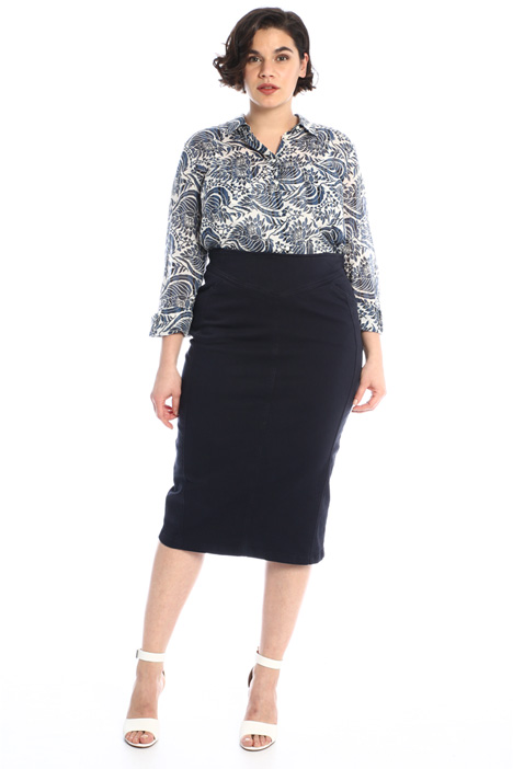 Canvas pencil skirt Intrend