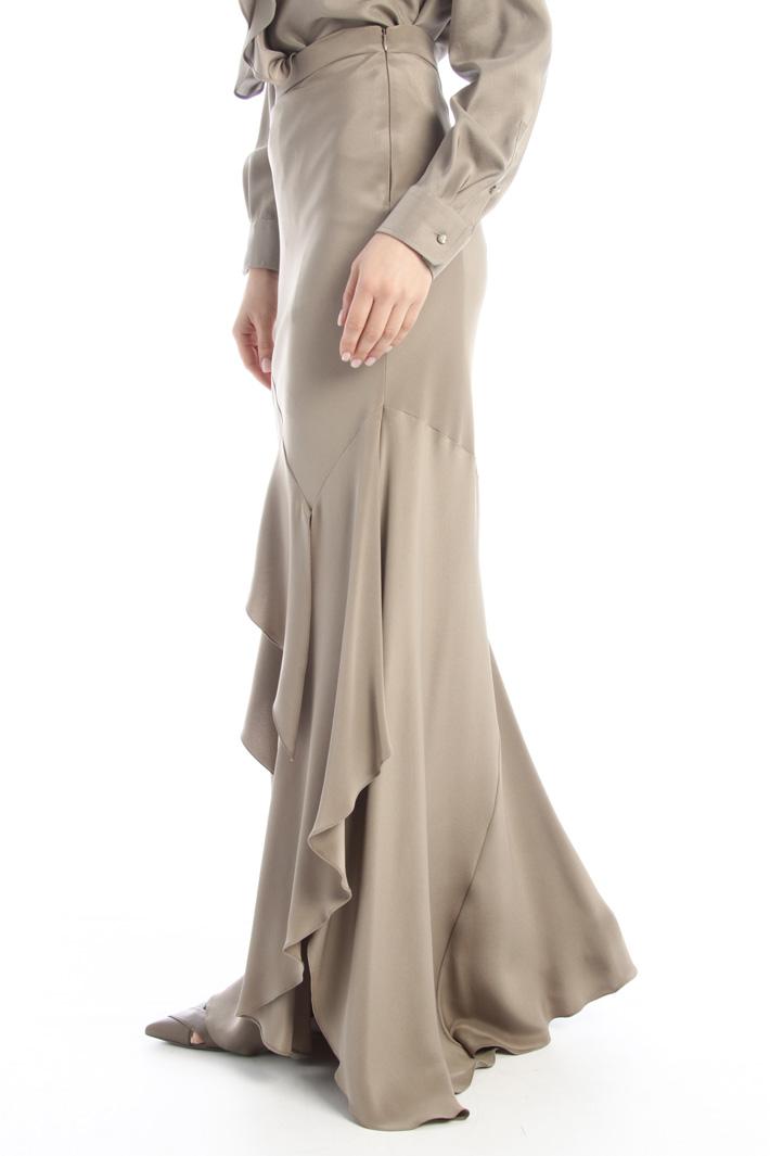 Flounced silk skirt Intrend