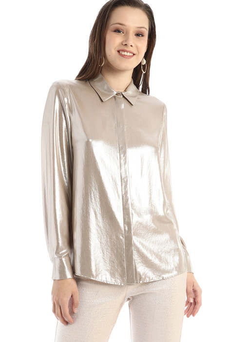 Laminated georgette shirt Intrend