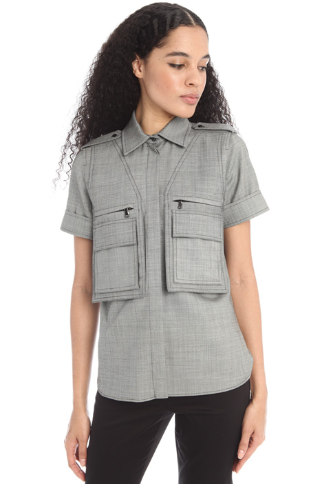 Shirt with maxi pockets Intrend
