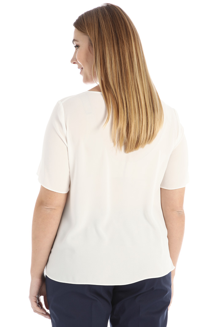 Embroidered fluid blouse Intrend