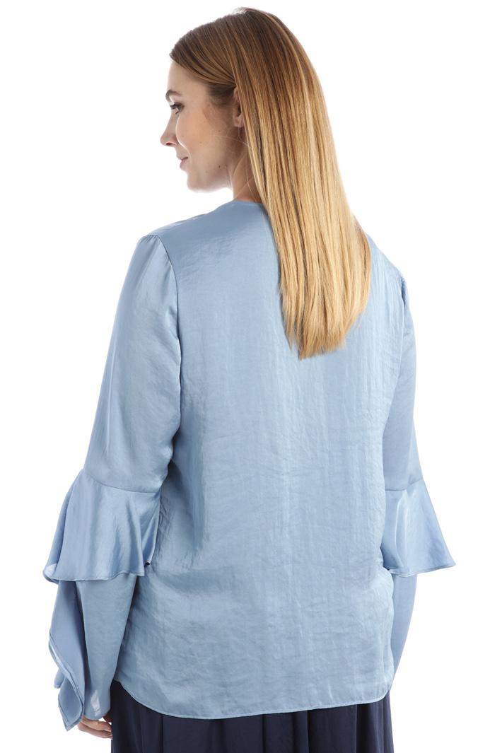 Flounced satin shirt Intrend