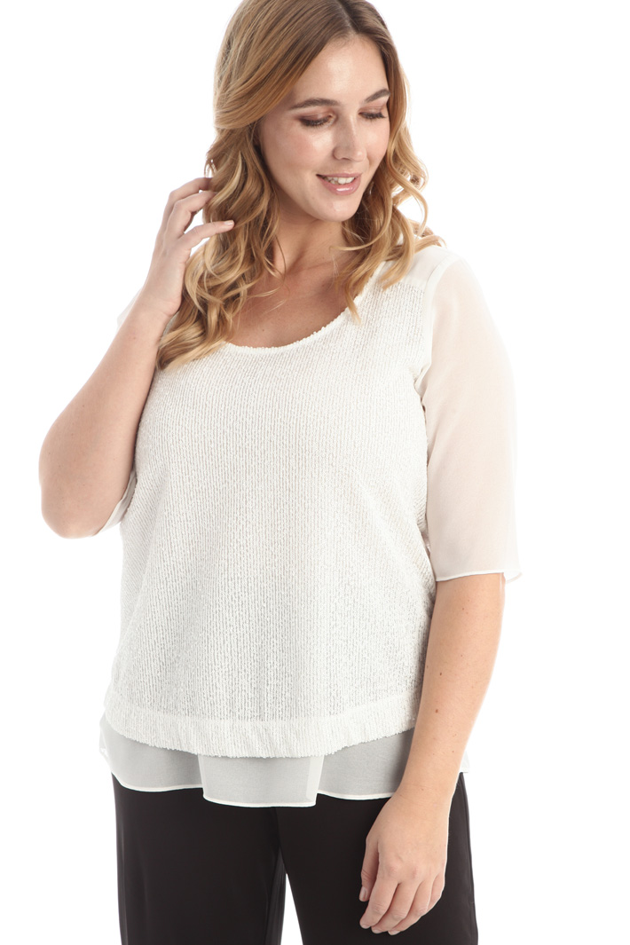 Sequin and tulle blouse Intrend