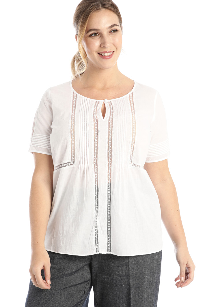 Cotton and lace tunic Intrend