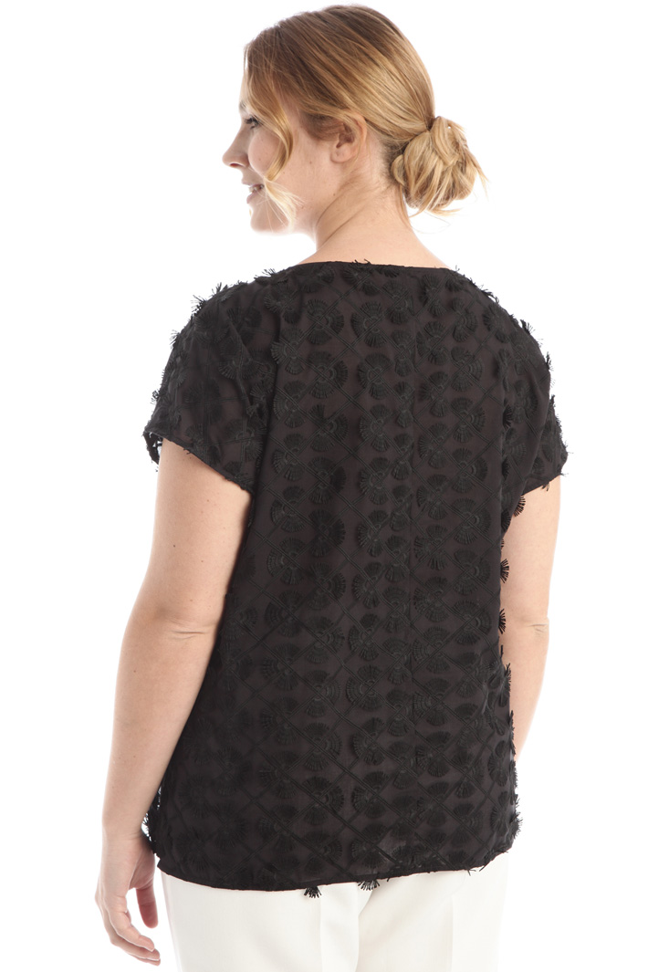 Blouse in embroidered muslin Intrend