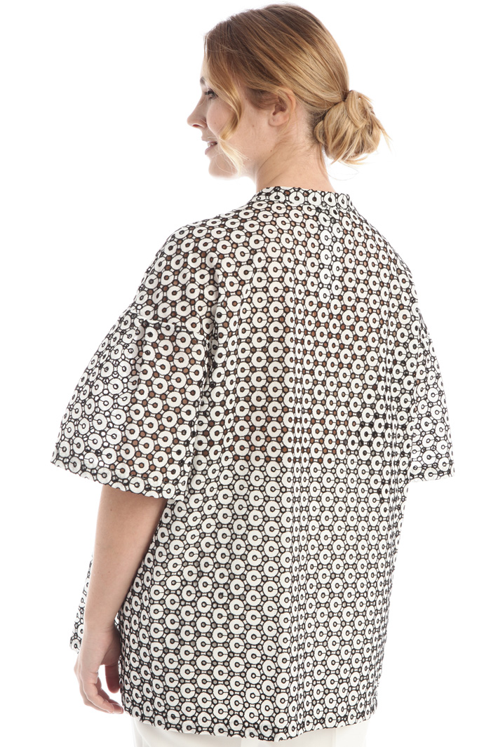 Shirt in embroidered muslin Intrend