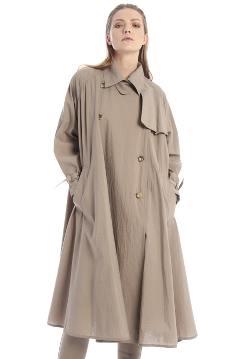 Cotton-blend trench Intrend