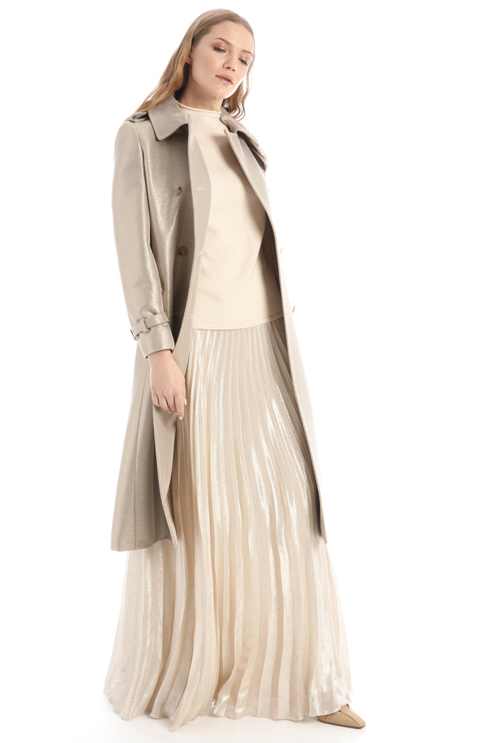 Lurex wool trench coat Intrend