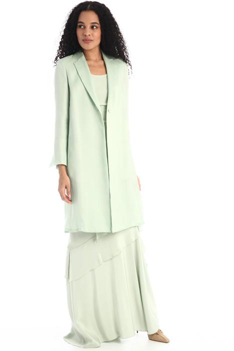 Duster coat in light silk Intrend