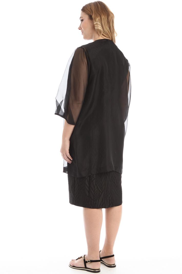 Silk gauze duster coat Intrend