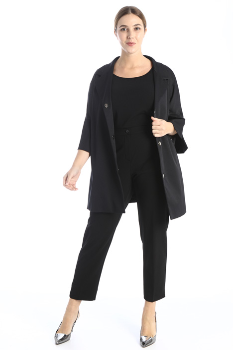 Stretch ottoman duster coat Intrend