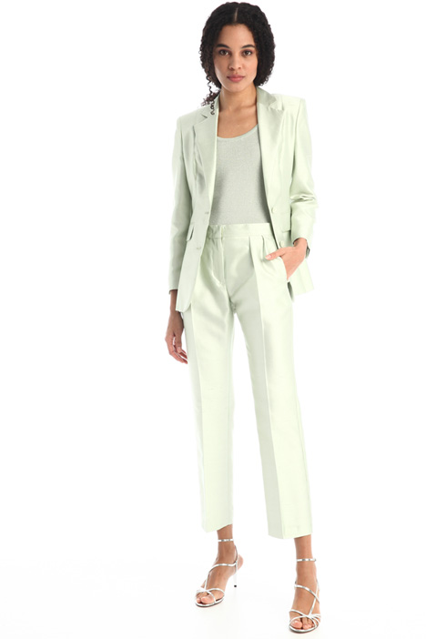 Silk shantung trousers Intrend
