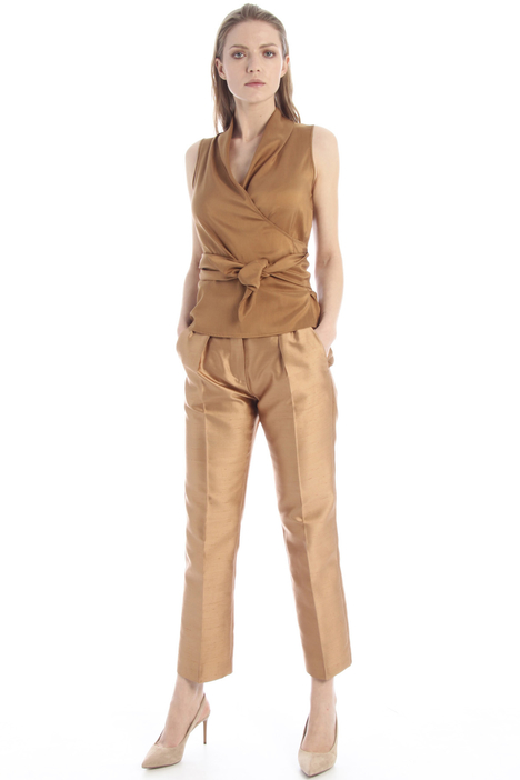 Silk shantung trousers Intrend