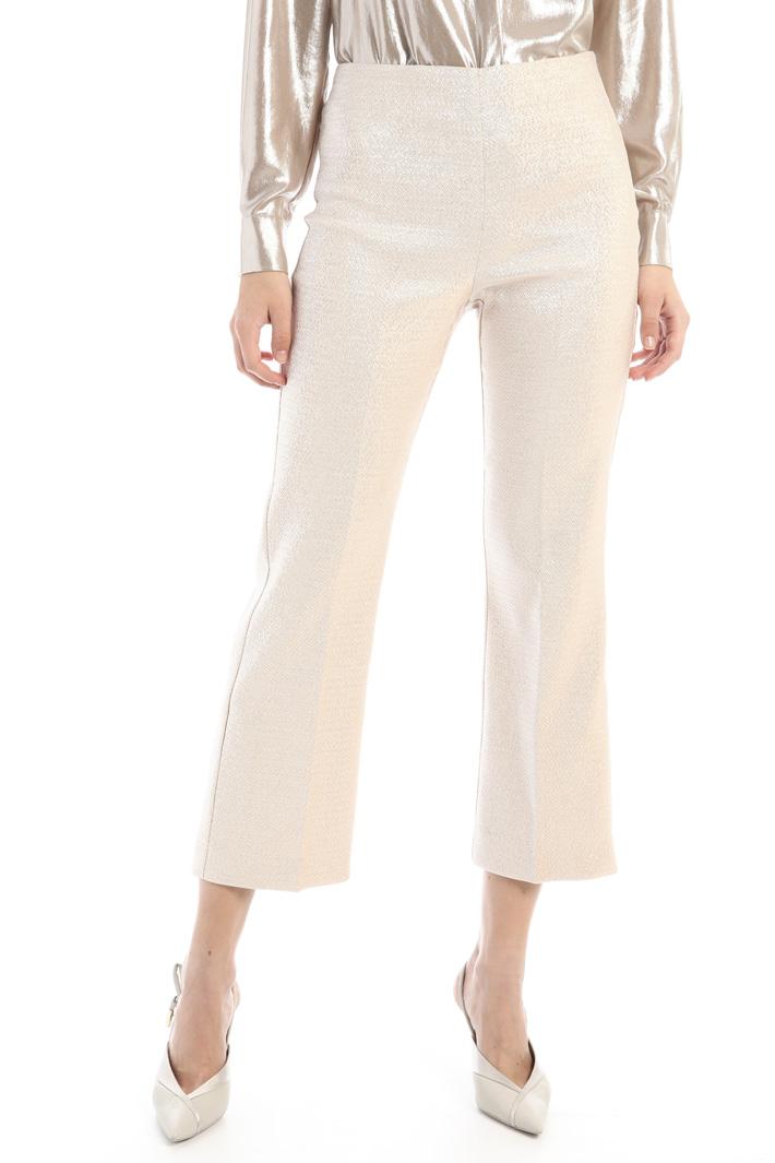 Lurex canvas trousers Intrend