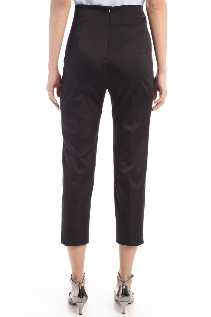 High waist satin trousers Intrend