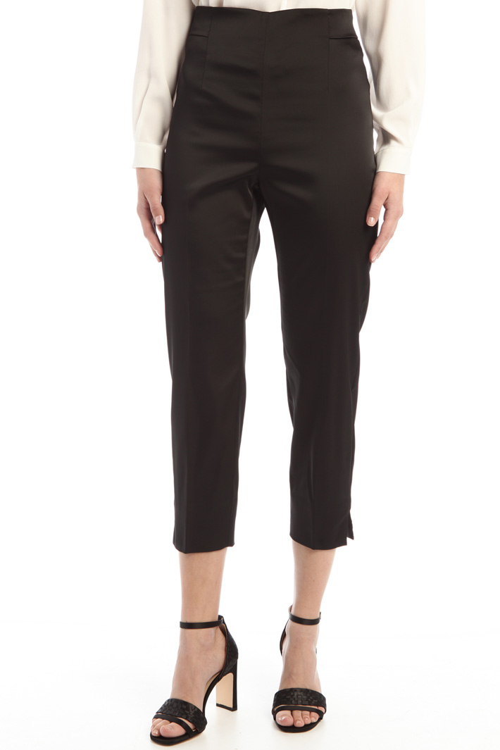 High waist satin trousers Intrend