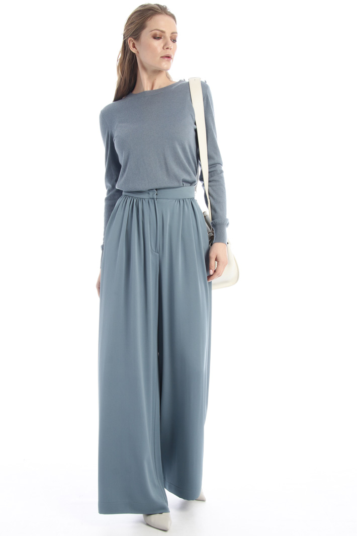 Silk crepe trousers Intrend
