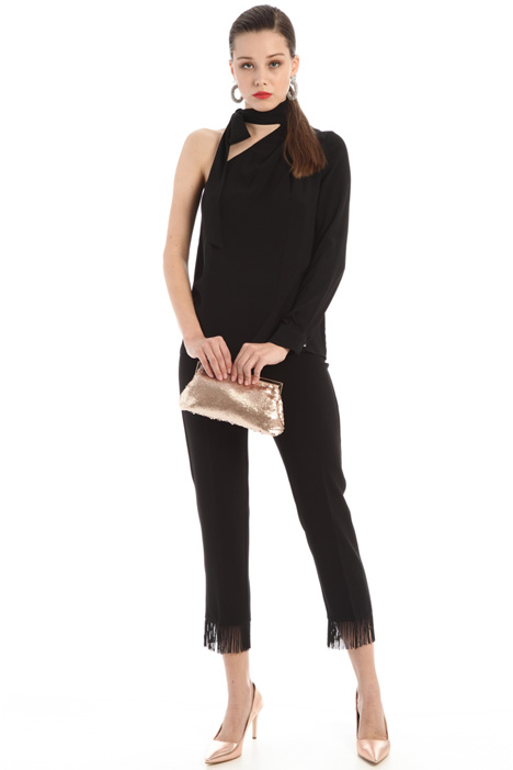 Cady trousers with fringes Intrend