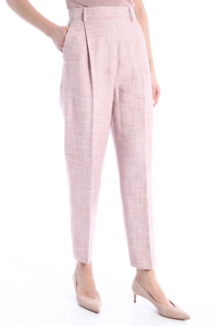 Carrot trousers in canvas Intrend