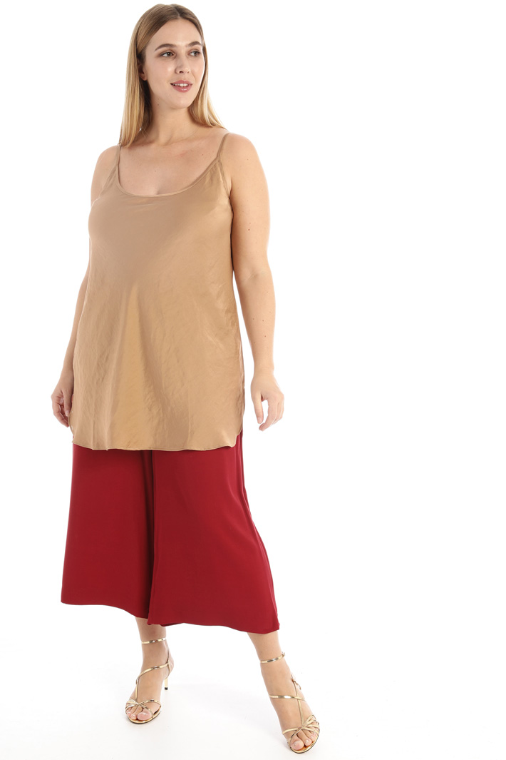 Viscose cropped trousers   Intrend