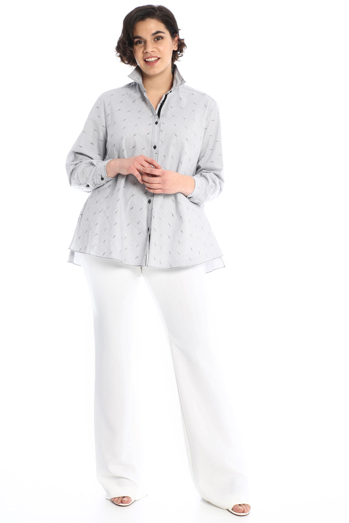Flared trousers in twill Intrend