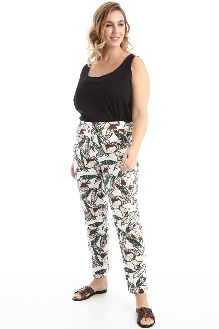 Stretch woven trousers  Intrend