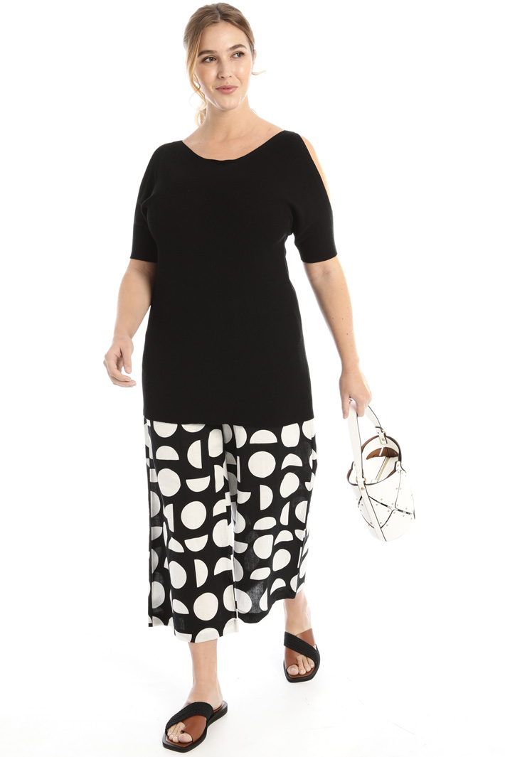 Printed linen trousers Intrend