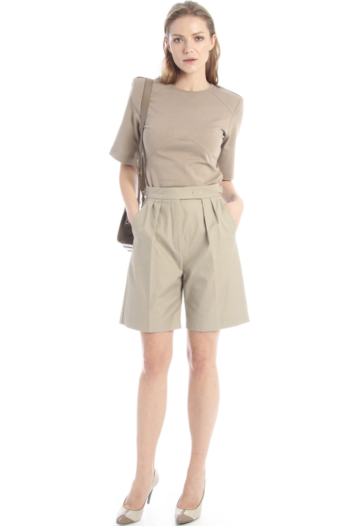 Cotton twill shorts Intrend