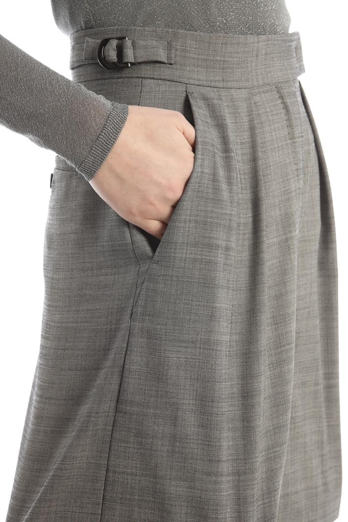 Pleated wool bermuda Intrend