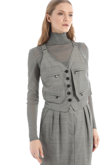 Fitted wool vest Intrend