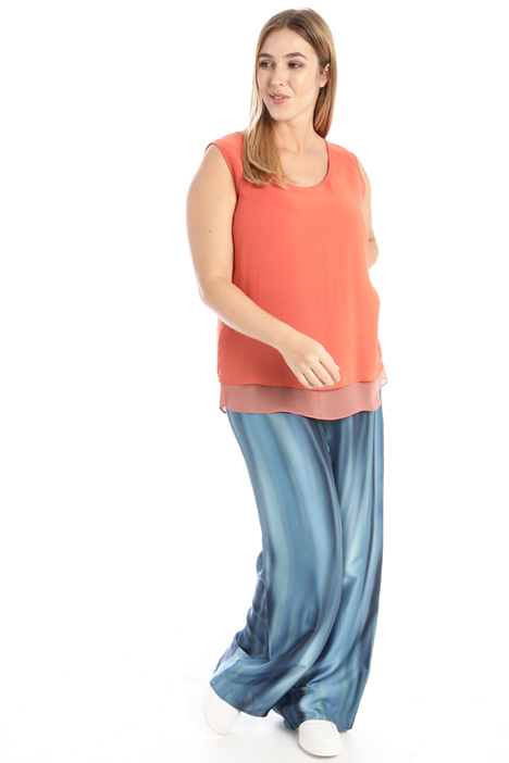 Georgette top with slits Intrend