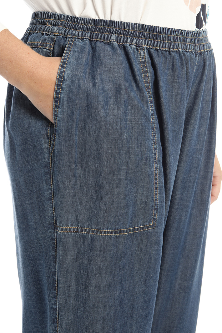 Denim-effect trousers Intrend