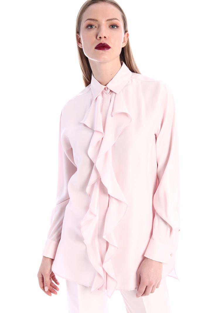 Silk shantung shirt Intrend