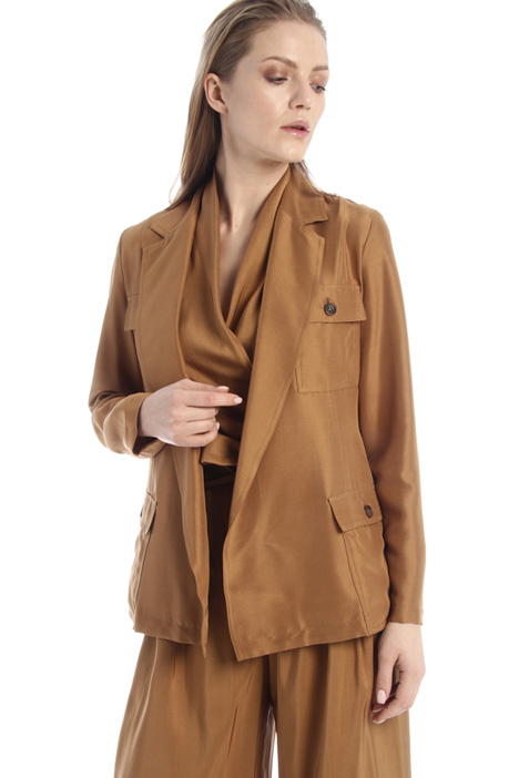 Silk safari jacket Intrend