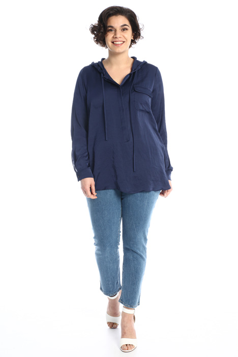 Hooded satin tunic Intrend