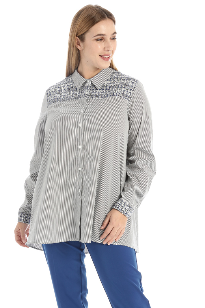 Tweed and cotton shirt Intrend