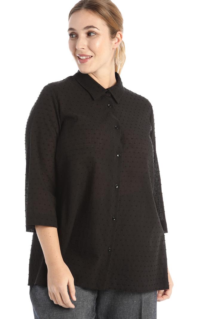 Jacquard muslin shirt Intrend