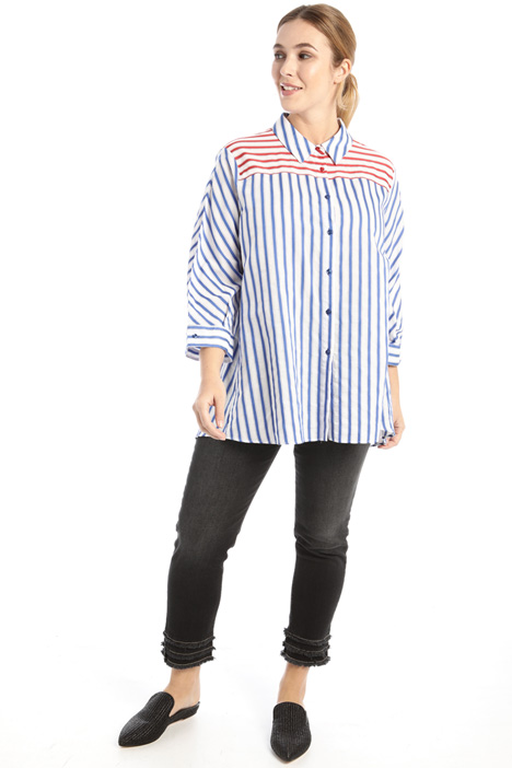 Yarn dyed muslin shirt Intrend